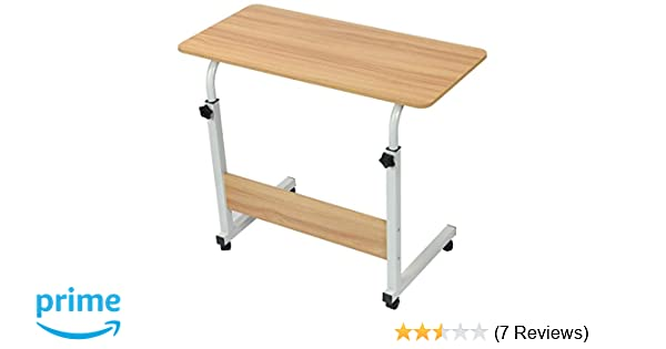 001e64c26a Cubix Mobile Bedside Table End Rolling Laptop Stand Height Adjustable  Computer Table Study Desk with 4 Wheels for Bed Sofa Hospital Reading  Eating - Buy ...