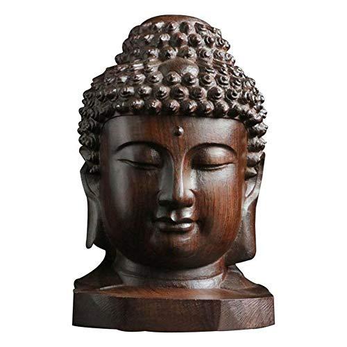 Hongge Statue de Bouddha Figurine Naturel en Bois d'agar Artisanat Ornements décoratifs 6cm / 16.5cm de Haut