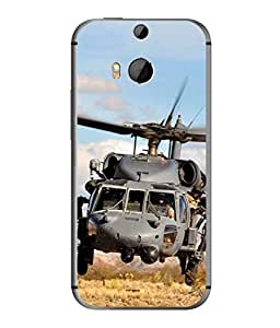 PrintVisa Designer Back Case Cover for HTC One M8 :: HTC M8 :: HTC One M8 Eye :: HTC One M8 Dual Sim :: HTC One M8s (Force Aircraft Aviation Travel Chopper Flight Blades Captain Sky)