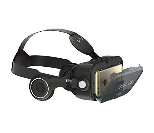 Procus PRO (Black) VR Headset - 100-120 Degree FOV with Highest Immersive Experience - Inbuilt Headphones