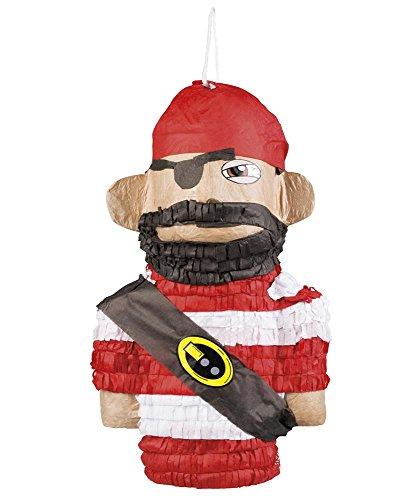 Piraten Affen Kostüm - shoperama Pinatas - große Motivauswahl, Kleiner Preis - Kindergeburtstag Geburtstag Party Pinata zum Befüllen, Farbe:Pirat