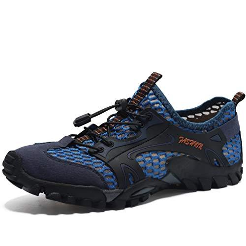 Flarut Sandali Sneakers Sportivi Estivi Uomo Trekking Scarpe da Spiaggia All'aperto Pescatore Piscina Acqua Mare Escursionismo Leggero(Blu,44)