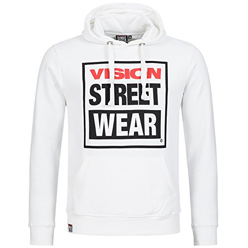 Vision Street Wear Hood Herren Kapuzen Sweatshirt weiß (Uk Street Fashion)