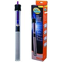 BPS (R) Calentador Sumergible para Pecera Calefacción de Varilla para Acuario Glass Tanque de Pescados con Termómetro y Ventosa 150W - 26.5 cm  BPS-6053