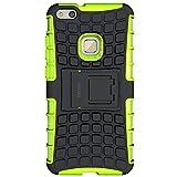 ykooe Huawei P10 Lite Hülle, Silikon Series P10 Lite Dual Layer Hybrid Handyhülle Drop Resistance Handys Schutz Hülle mit Ständer für Huawei P10 Lite [5,2 Zoll]