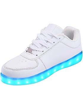 [Gesponsert]LeKuni Unisex LED Schuhe Leuchtschuhe 2017 Verbesserung 7 Farbe Blinkende Leuchtende Light Up Low Top Sneakers...
