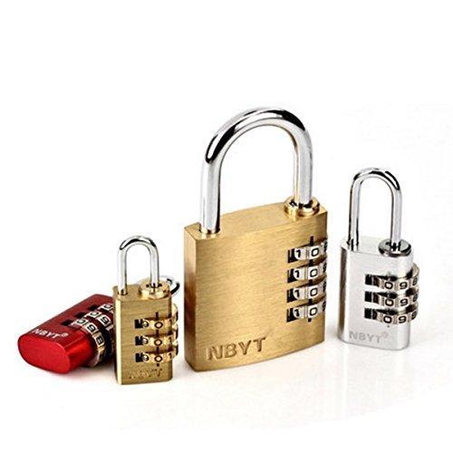 SUHAGN Vorhängeschloss Home Aktenkoffer Lock Security Lock Base Auszugssperre Schublade Sperren 5345-Bit-Lock Password Lock Schränke Lager, E3201 (Aluminium)-3 Bit Tasche Farbe Beachten