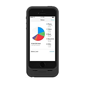 Mophie Space Pack Battery Case with Built-In 16 GB Storage for iPhone 5/5S - Black