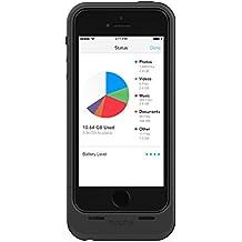mophie Space Pack Schutzhülle mit integriertem 1700mAh Akku und 16GB Speicher für iPhone 5/5s – Schwarz
