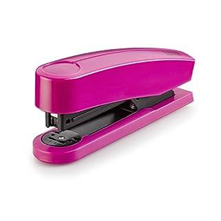 Novus B 2 Color ID Heftgerät (25 Blatt, Tacker aus Metall mit Kunststoffoberteil, inkl. 200 Tackerklammern) 1 Stück happy rosa