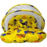 First Smile: Newborn Baby Bedding Mattress With Mosquito Net (Yellow)