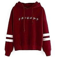 Unisex Fashion friend Hoodie Sweatshirt friend TV Show Merchandise Women Men Tops Hoodies Sweater Funny Hooded Pullover (S, friend hoodie Wine red)