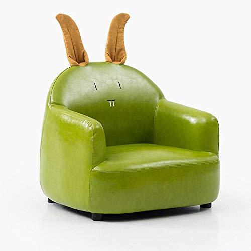 Oevina Sonnenliege Kind Schöne Cartoon PU Material Kleines Sofa Weiche Loon Chair (Color : Green 01) -