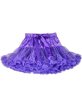 Honeystore Falda Enagua danza disfraces de Tutus para bebé de color sólido morado morado 5-7 Años (label Talla...
