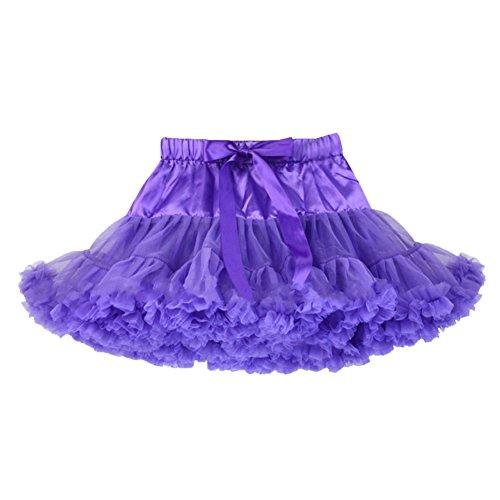 Ballet Tanz Tutu Kostüme (Honeystore Mädchen's Einfarbig Petticoat Tanz Tutu Kostüme Rock Violett)