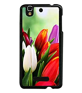 Tulips 2D Hard Polycarbonate Designer Back Case Cover for YU Yureka :: YU Yureka AO5510