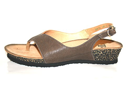 Think 84311 Toe-Post Scarpe da donna Sandali Brown - BROWN