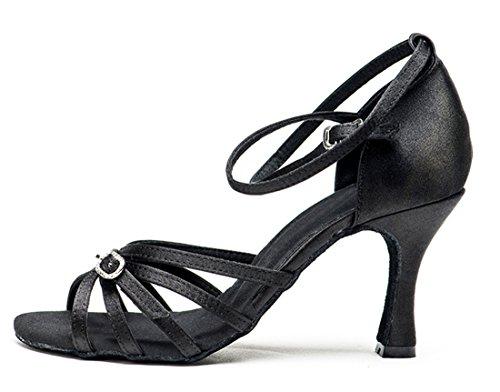 TDA ,  Damen Peep Toes 7.5cm Black
