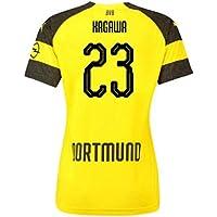 2018-2019 Borussia Dortmund Home Ladies Puma Football Soccer T-Shirt Camiseta (Shinji Kagawa 23)