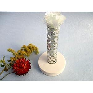 Dochthalter für Kerzenfresser, Schmelzlicht, DIY-Set für Kerzenrestefresser, Docht für Kerzenrecycling, Halter für Dauerdocht zum Schmelzen von Kerzen- und Wachsresten, mit Glasfaserdocht 10 mm