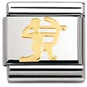 Nomination Composable Classic STERNZEICHEN Edelstahl und 18K-Gold (Schutze) 030104