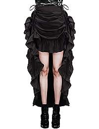 Belle Poque Gótico Steampunk Vintage Faldas de algodón para Mujer Gypsy ...