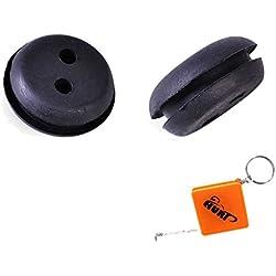HURI 2 Passe durite / Joint de Réservoir Caoutchouc 2 trous Diam 20mm