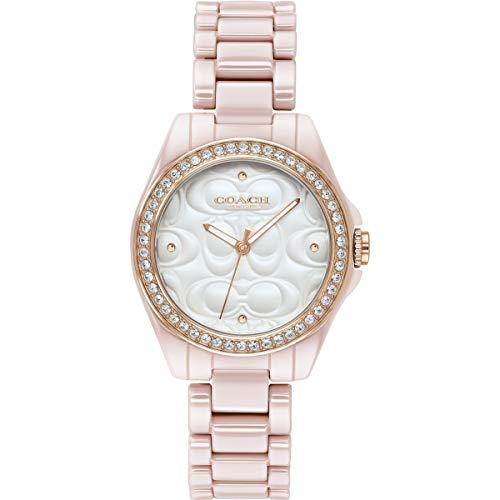 Coach | Moderne Sportuhr für Damen | pink mit weißem Gesicht | 14503256 Pink-coach Armband