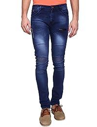 G-23 Men Knee Ripped Darkblue Jeans