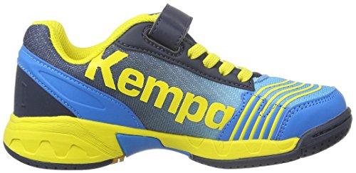 Kempa Attack, Chaussures de sport Mixte Enfant Multicolore (Kempableu/Bl Marine/Jaune)