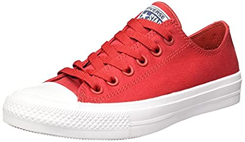 Converse Chuck Taylor All Star Ii C150149, Sneakers Basses Mixte Adulte, Rouge, 38 EU