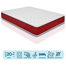 Duermete viscoelástico Lite Reversible (colchón a 2 Caras), Muy Transpirable, Blanco,