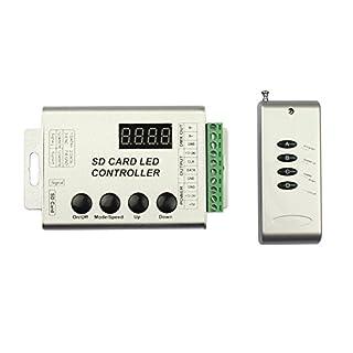 Tesfish Programmable RF LED Controller DC 5V/12V/24V +2G TF Card For WS2801 WS2811 6803 8806 5050 RGB Dream Magic Color Chasing LED Pixel Strip