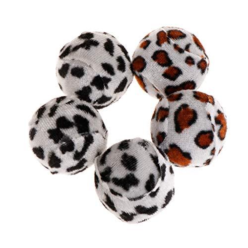 Vivitoch Plüschbälle, Leopardenmuster, interaktives Spielen, für Katzen, Hund, Kätzchen, Spielzeug, Quietschgeräusche