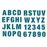 Rico Design Stempel Alphabet Zahlen aus Silikon, groß, petrol