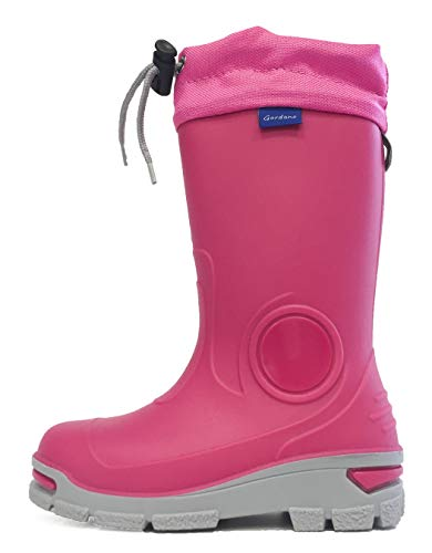 Muflon Kids Boys Girls Wellington Boots Rainy Snow Wellies - Silver ions Ag+