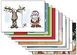 10er-Set: Postkarten A6 +++ MIX SET Nr. 2 von modern times +++ 10 lustige Motive zu WEIHNACHTEN +++