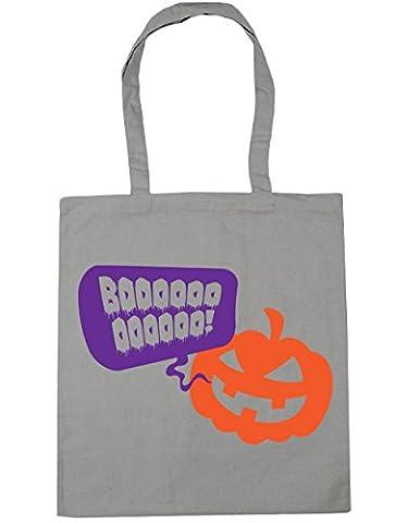 hippowarehouse booooo citrouille Halloween sac à shopping/Sac de plage 42cm x38cm, 10litres - gris - Taille unique
