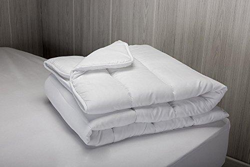 Relleno nórdico / edredón de microfibra  tacto pluma  otoño invierno  300 gr/m²  220 x 220 cm  para cama de 135 cm   Otros tamaños disponibles  color blanco