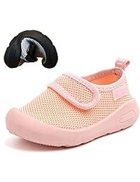 d0516423fa330 KVbaby Bébé Première Chaussures de Marche Garçon Fille Tout-Petit  Chaussures Sneaker pour Enfants Respirante