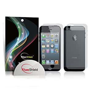 ElecShield Premium Screen Protectors for Apple iPhone 5 / 5S 6x Front & 6x Back / Rear - Value Pack of 6 - Ultra Clear
