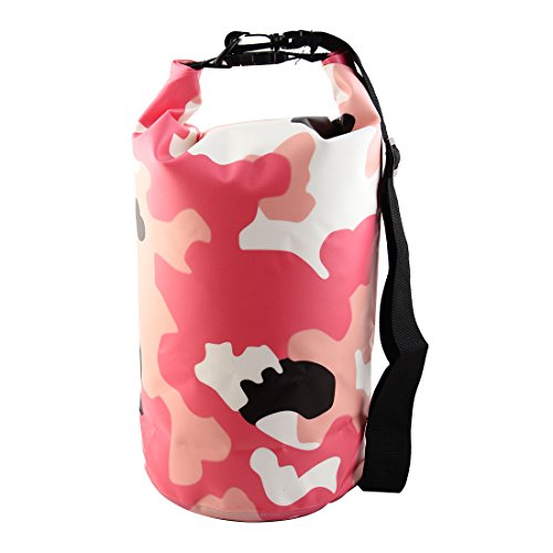 sourcingmap® SAFEBET Authorized Cell Phone Clothes Backpack Water Resistant  Bag Roll Top Dry Sack 10L Camouflage Pink for Rafting Boating Swimming  Camping ... a6690d1380b96