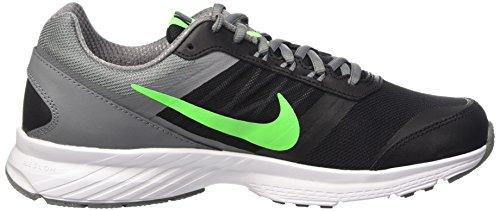 Nike Herren Air Relentless 5 Laufschuhe, Talla Schwarz / Limettengrün / Grau / Weiß (Black/Vltg Green-Cl Gry-White)