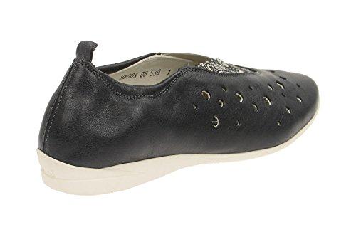 Think Chaussures Femme–Confortable Pantoufles wunda Noir