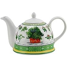 Teekanne Fliesen Blau//Weiß Modern Dekor Jameson /& Tailor Porzellan Teeprobe