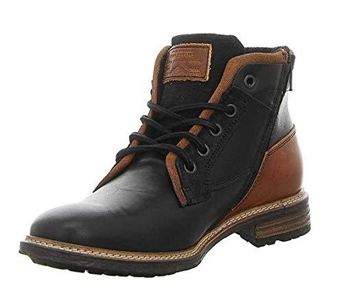 BULLBOXER Herren Winterstiefel 870K56088,Männer Winter-Boots,Fellboots,Fellstiefel,gefüttert,Warm,Blockabsatz,Black,EU 44