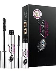 PanDaDa DDK 4D Mascara Creme Make-up Set, Wasserfeste Mascara Eye Schwarze Wimpernverlängerung Silk Fiber Extended Tough Mascara