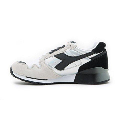 Diadora Ic 4000 Hologram, Sneaker a Collo Basso Unisex – Adulto bianco, nero