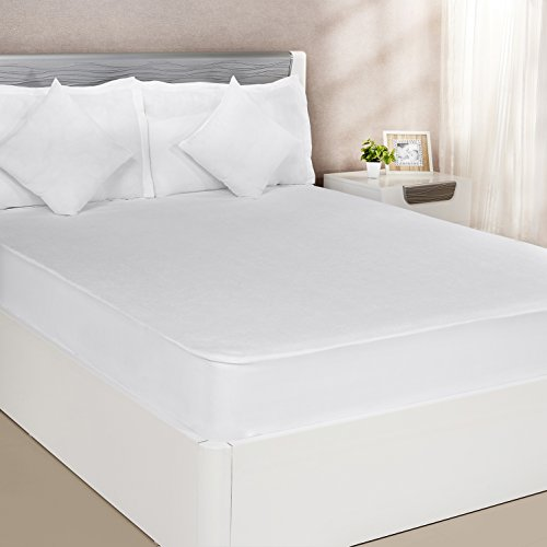 Solimo Waterproof Mattress Protector Queen Size (White, 60X78 Inches)