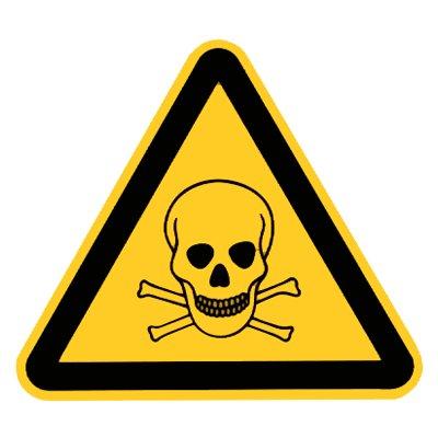 """"""" Warnung vor giftigen Stoffen """" Warnzeichen - Warnschild Folie selbstklebend 200 mm"""